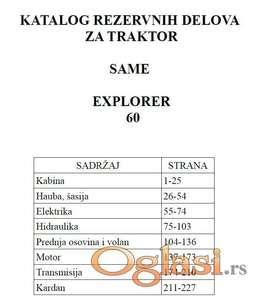 Same Explorer 60 - Katalog delova