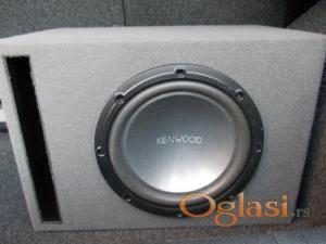 Magnat pojačalo 1200W + bas Kenwood sa kutijom