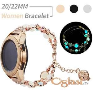 Metalna narukvica 22 mm fluorescentna za Samsung smart watch