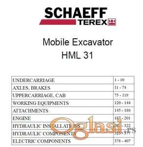Terex HML 31 bager - Katalog delova