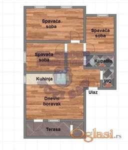 Nov troiposoban stan, Veternička rampa, sa povratom PDV-a! 065/63-855-37