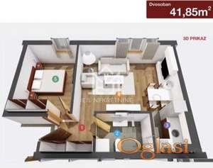 Dvosoban stan u izgradnji, 41.85m2