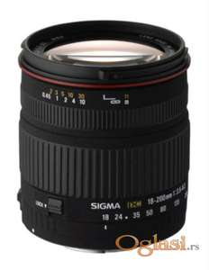 Sigma 18-200mm/3.5-6.3 DC super-zum za Canon EF