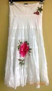 Bela letnja suknja