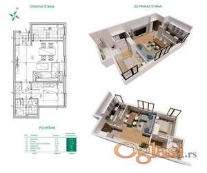 Novi Sad, Spens - Dvosoban stan u izgradnji ID#1000345