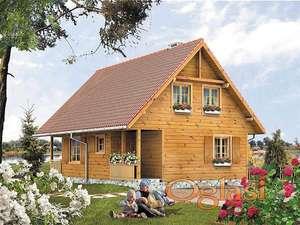 Kuce od drveta  sa potkrovljem POT3 osnova 7mx5m+terasa