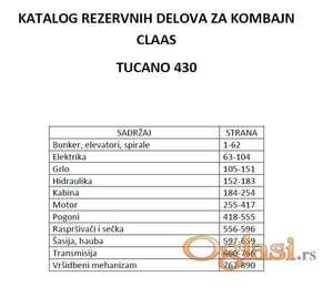 Claas Tucano 430 - katalog delova