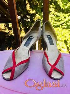 Vintage handmade peep-toe sandale