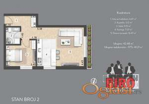 41 m2 nov dvosoban  stan