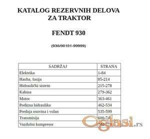 Fendt 930 Vario - Katalog delova