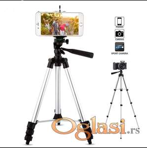Stativ 105cm za Telefone, Fotoaparate,Kamere,Projektore, i slicno +, Torba i Drzac za Telefon