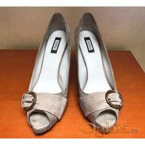 NOVO Zara kozne peep-toe cipele na stiklu