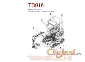 Takeuchi TB 016 - Katalog rezervnih delova