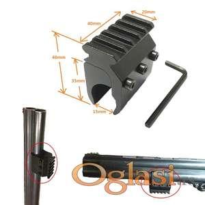 Nosač lampe ili lasera 20 mm picatinny za lovačku pušku