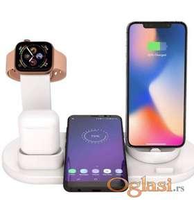 Bezicni punjac 4u1 za Apple Watch, Airpods i 2x iPhone