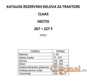 Claas Nectis 267 - 227 Katalog delova