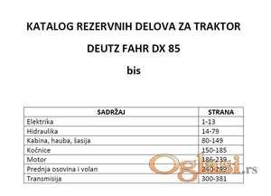 Deutz Fahr DX 85 - Katalog delova
