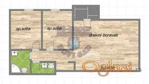 Funkcionalan trosoban stan sa prostranim dnevnim boravkom