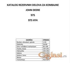 John Deere 975 - 975 HY4 katalog delova