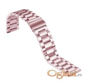 Rose pink metalna narukvica za Huawei smart watch