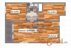 Odličan trosoban stan u izgradnji! Trostano orijentisan! Salajka!