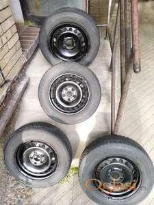 """Čelične felne 15"""" (5x112) VW sa zimskim gumama 195 65 R15"""