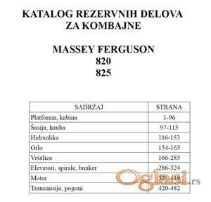 Massey Ferguson 820- 825 kombajni - Katalog delova