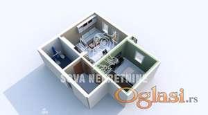 Jednoiposoban stan u novogradnji Kertvaroš ID#1106
