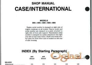Case International 385 - 485- 585 - 685 - 885