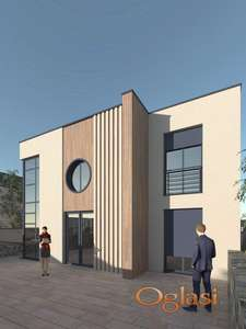 Prelep plac sa idejnim rešenjem za gradnju porodične kuće! 064/822-21-40