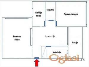 Voždovac, Kumodraška, Bulevar Peka Dapčevića, 68m2, 2.5 ID#1266