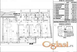 VELIKI ČETVOROSOBAN STAN 77 m2 IZGRADNJA U BLIZINI CENTRA GRADA-povraćaj PDV-a