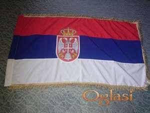 Zastava Srbije sa resama