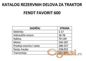 Fendt Favorit 600 Katalog rezervnih delova