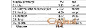 Stan,Beograd,Palilula,Karaburma,Aleksandra Fleminga,63,50m2,88900eur+PDV ID#1149
