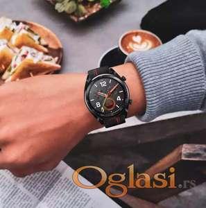 Huawei watch gt narukvica (kozna sa crvenim sivenjem)