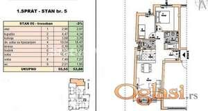 Rotkvarija-FANTASTČAN TROSOBAN STAN 54 m2 U IZGRADNJI-povraćaj PDV-a