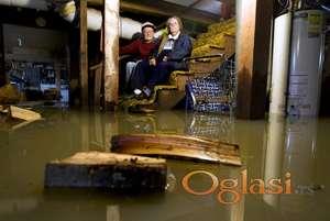 Ispumpavanje vode iz poplavljenih prostorija NS
