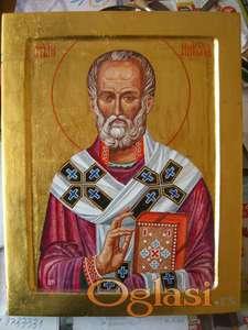 Sv. Nikola, dve ikone na dasci