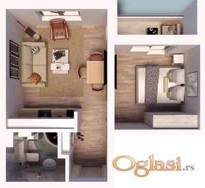Jednosoban stan u izgradnji