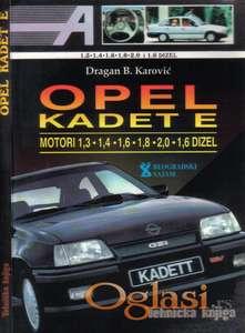 OPEL KADET E - Tehnicka knjiga za generalnu dizel-benzin sa elektro semom
