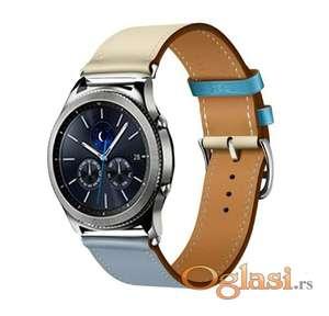 Kozna dvobojna narukvica Samsung galaxy watch 46 mm