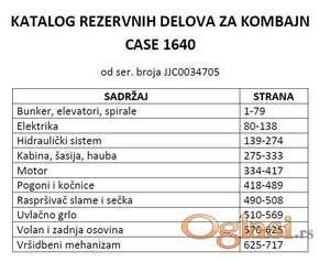Case 1640 - Katalog delova