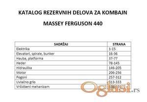 Massey Ferguson 440 kombajn - Katalog delova