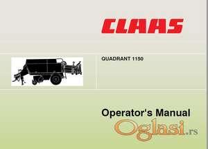 Claas Quadrant prese - Uputstva za rukovanje i održavanje