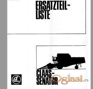 Claas Senator - Katalog delova