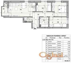 KLISA, 64 m2, 82750 EUR