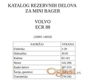 Volvo ECR 88 mini bager - Katalog delova