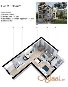 Prodajem dvosoban stan u Meljinama, Herceg Novi