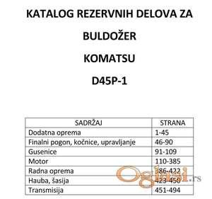 Buldožer Komatsu D45P-1 Katalog delova